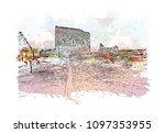 edinburgh castle is a historic... | Shutterstock .eps vector #1097353955