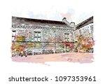 edinburgh castle is a historic... | Shutterstock .eps vector #1097353961