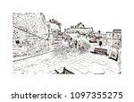 edinburgh castle is a historic... | Shutterstock .eps vector #1097355275