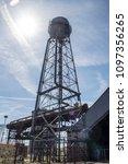 steel water tower | Shutterstock . vector #1097356265