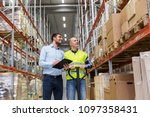 logistic business  shipment and ... | Shutterstock . vector #1097358431