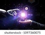 artificial intelligence  future ...   Shutterstock . vector #1097360075