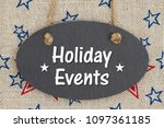 holiday events text on a... | Shutterstock . vector #1097361185