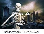 Human Skeleton In A Graveyard...