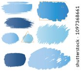 brush strokes stamps vector set ... | Shutterstock .eps vector #1097368661