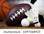 balls  sports equipment | Shutterstock . vector #1097368925