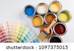 paint cans color palette | Shutterstock . vector #1097375015