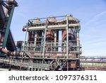 rusty industrial steel... | Shutterstock . vector #1097376311