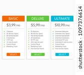 pricing table template. hosting ... | Shutterstock .eps vector #1097376614