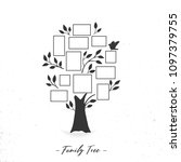 family tree with photo frames.... | Shutterstock .eps vector #1097379755