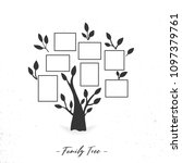 family tree with photo frames.... | Shutterstock .eps vector #1097379761