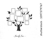 family tree with photo frames.... | Shutterstock .eps vector #1097379767