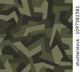 geometric camouflage seamless... | Shutterstock .eps vector #1097382581