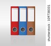 ring binder | Shutterstock .eps vector #109738331