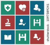 plus icon. collection of 9 plus ...   Shutterstock .eps vector #1097389241