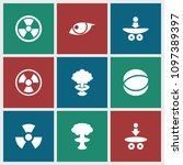atomic icon. collection of 9...   Shutterstock .eps vector #1097389397