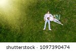 romantic couple of young people ...   Shutterstock . vector #1097390474