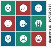 cry icon. collection of 9 cry... | Shutterstock .eps vector #1097390684