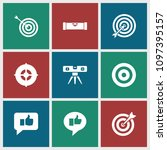 accuracy icon. collection of 9... | Shutterstock .eps vector #1097395157