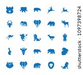 mammal icon. collection of 25... | Shutterstock .eps vector #1097398724