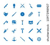 sharp icon. collection of 25... | Shutterstock .eps vector #1097398907