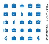 brief icon. collection of 25... | Shutterstock .eps vector #1097401469