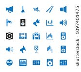 loud icon. collection of 25... | Shutterstock .eps vector #1097401475