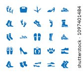 foot icon. collection of 25...   Shutterstock .eps vector #1097401484