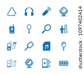 portable icon. collection of 16 ...   Shutterstock .eps vector #1097402414