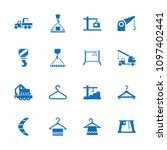 hook icon. collection of 16... | Shutterstock .eps vector #1097402441