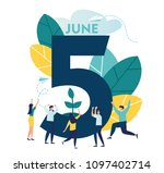 vector flat illustration ... | Shutterstock .eps vector #1097402714