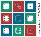 random icon. collection of 9... | Shutterstock .eps vector #1097403149