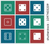 random icon. collection of 9... | Shutterstock .eps vector #1097403209