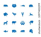 wildlife icon. collection of 16 ... | Shutterstock .eps vector #1097403299