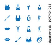 attractive icon. collection of... | Shutterstock .eps vector #1097404085