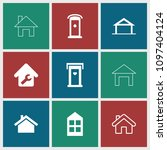 residence icon. collection of 9 ...   Shutterstock .eps vector #1097404124