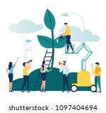 vector flat illustration  small ... | Shutterstock .eps vector #1097404694