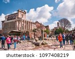 italy  rome  march 13   2018... | Shutterstock . vector #1097408219