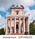 rome  temple of antoninus and... | Shutterstock . vector #1097408225
