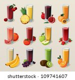 set of tasty fresh squeezed... | Shutterstock .eps vector #109741607