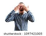 young man confused   Shutterstock . vector #1097421005