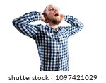 young man confused   Shutterstock . vector #1097421029