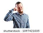 handsome guy crying   Shutterstock . vector #1097421035