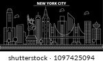 new york city silhouette... | Shutterstock .eps vector #1097425094
