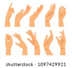 hand gestures in different... | Shutterstock . vector #1097429921