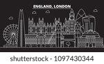 london silhouette skyline....   Shutterstock .eps vector #1097430344