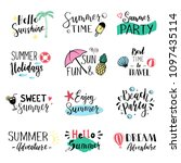 hand drawn set of lettering... | Shutterstock .eps vector #1097435114