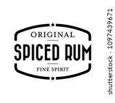 spiced rum vintage stamp | Shutterstock .eps vector #1097439671