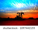 the oil pump  industrial... | Shutterstock . vector #1097442155