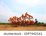 the oil pump  industrial... | Shutterstock . vector #1097442161
